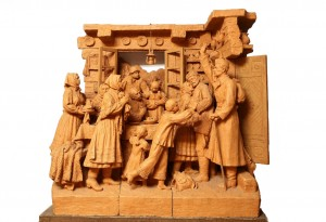 They Returned Alive. The End Of The War, 1985, terracotta,high relief, round sculpture