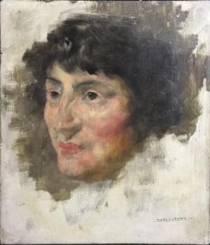 Портрет жінки, дошка,о., 21х18