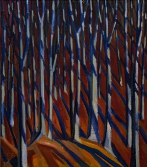 'Beech Forest', 1985, oil on canvas