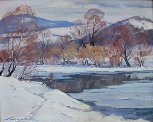 A Cold Day, 1976, oil on canvas, 65х80