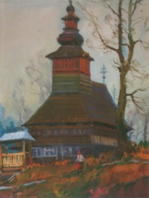 Сяркевич Ю. Церква в Пилипці, 2009, п.о., 60х80