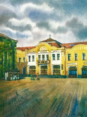 Restaurant and Hotel 'Korona' 1997 watercolour