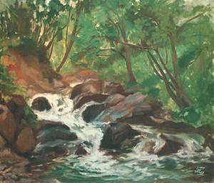 Гірська річечка, 2006, п.о., 50х60