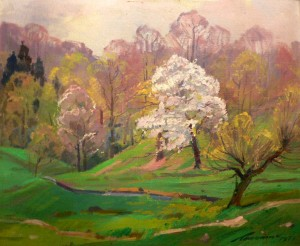 A Blossoming Apple Tree, 1977