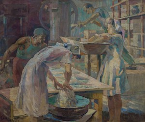 In the bakery, 1947