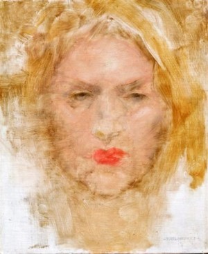 Portrait Of Ilona, 1936, oil on wood, 30x25