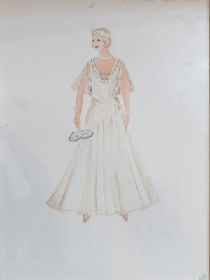 A Sketch of Costume 'A Beautiful Summer In Paris ...'