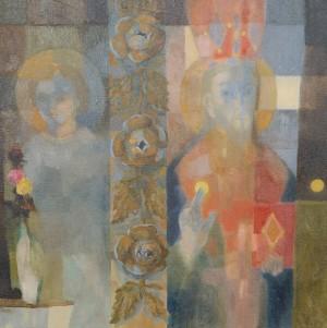 N. Ponomarenko. Saints from Shandrovo Village, 2007, oil on canvas
