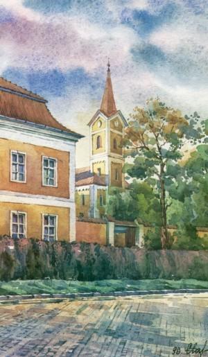 Reformed Church  1996 watercolour