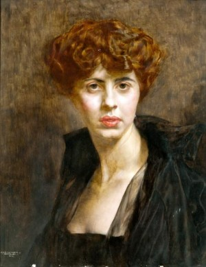 Portrait Of Lady, 1918, oil on wood, 63x48