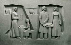 Триптих Визначні постаті. Сучасність. 1989, рельєф, гіпсова модель
