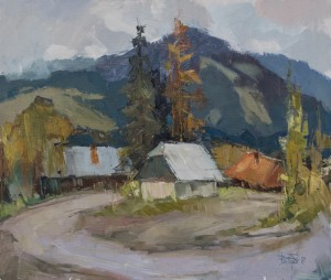Uzhok Pass, 2017, oil on canvas, 60x70