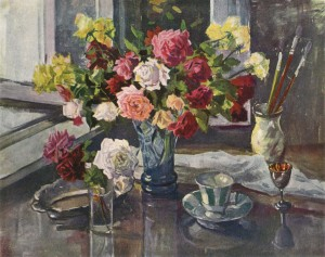 Roses, 1958, watercolour on paper