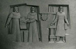 Триптих Визначні постаті. Сучасність., 1989, рельєф, гіпсова модель