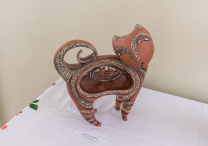 O. Sopilniak. A Cat, ceramics