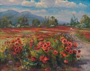 V. Svaliavchuk. Poppies Field, 2017