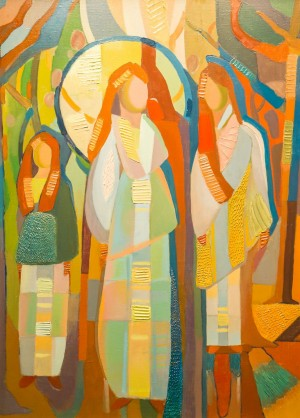 K. Toporkova Spring oil on canvas, spackle