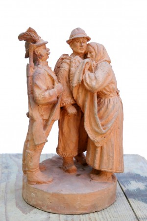 To The Soldiers, 1963, terracotta, sculpture of small forms