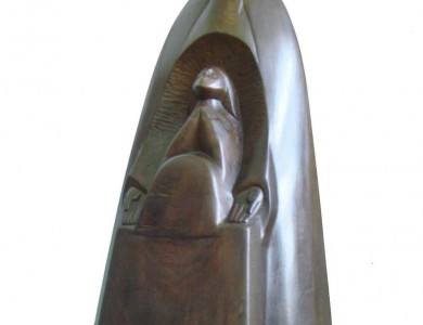 Prayer, 2005, wood, 60x27x23