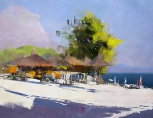 Makarska Siesta 2017 oil on canvas65x50
