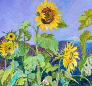 Sunflowers, 2009, oil on canvas, 70x75