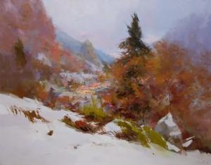 Carpathian Rocks 2014 oil on canvas 70x90