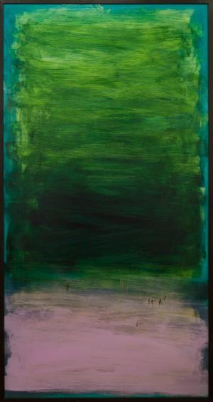 Із серії Space, 2016, скло, акр., 200х100