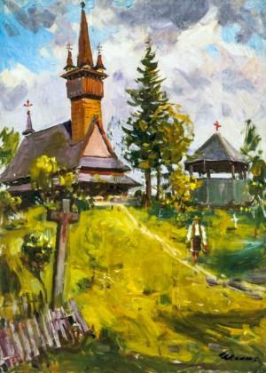 Z. Sholtes. Wooden church in Apsha village