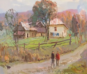 In Vyshka village, 2014, oil on canvas 62