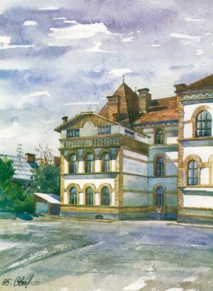 Secondary School No.4 1995 watercolour