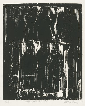Untitled, 1989, white on paper