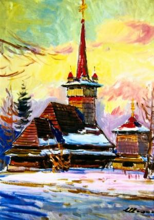 Шолтес З. Дерев'яна церква, 1987