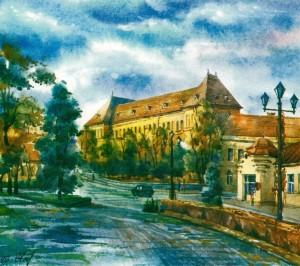 Secondary School No.4 1996  watercolour