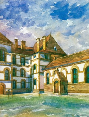 Secondary School No.4 watercolour