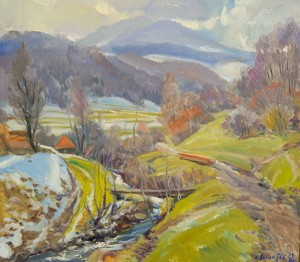 "S. Sholtes ""Road to the Mountains"", 2002, oil on canvas"