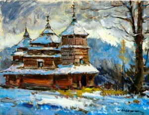 Z. Sholtes. Kostryna wooden church