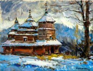 Шолтес З. Костринська дерев'яна церква, 1989