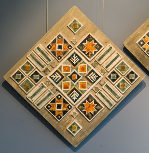 V. Shyshola Decorative panel-triptych by the motif of Pysanka ornament 2017