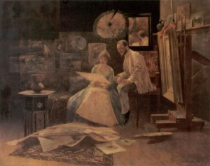 Studio, oil on canvas, 54,6х95,9