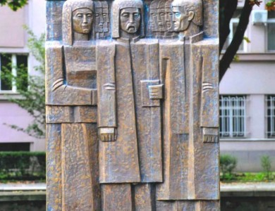 Monument to the Repressed People, granite, bronze, 3,50x120 m