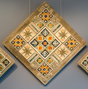 V. Shyshola Decorative panel-triptych by the motif of Pysanka ornament 2017 (2)