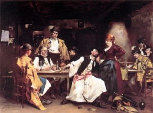 In The Tavern, oil on wood, 96,5х130,2