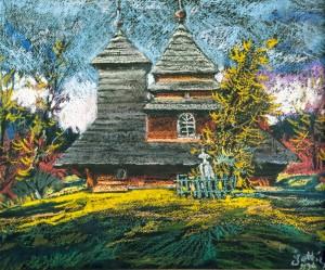 Z. Sholtes. The church in Uzhok village