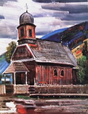 Шутєв І. Греко-католицька церква Успіння Пр. Богородиці,  1993, 65х50