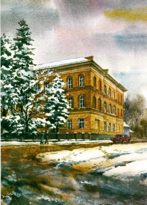 Faculty of Chemistry watercolour