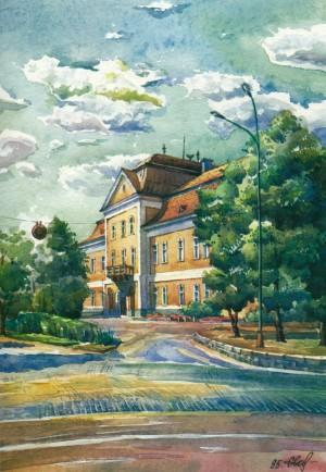 Art Museum 1995 watercolour