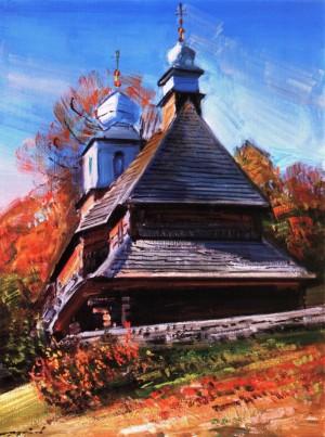 Шутєв І. Церква Василя Великого, с. Лікіцари, 1992, п.о., 70х50