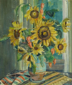 Still Life With Sunflowers, 1999, oil on canvas, 79x69,5