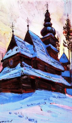 Шутєв І. Церква Введення Пресвятої Богородиці, с. Розтока, кар.о., 60х40