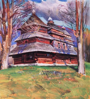 Шутєв І. Церква св. Архангела Михайла, с. Вишка, 1989, п.о., 80х70